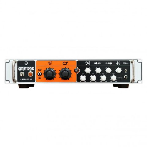 Orange 4 Stroke 500 W cls AB, act. 4 band parametric EQ, footswitchable cls A compression, bal DI