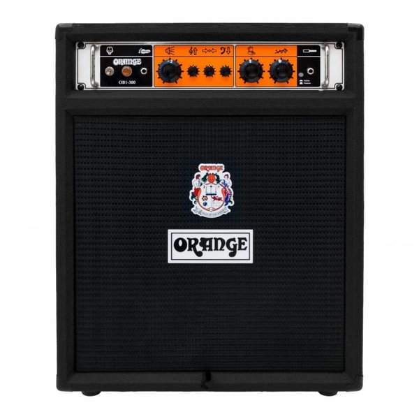 "Orange Orange OB1-300C Black 300 watt combo 15"" Eminence neo speaker front ported cab"