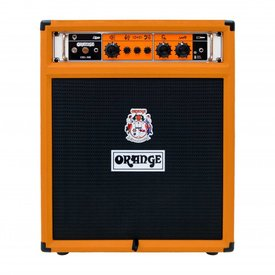 "Orange Orange OB1-300C 300 watt combo of the OB1-300, 15"" Eminence neo speaker, front ported cabinet."