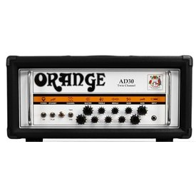 Orange Orange AD Series AD30HTC Black 30 watt twin channel head Class A all tube EL84