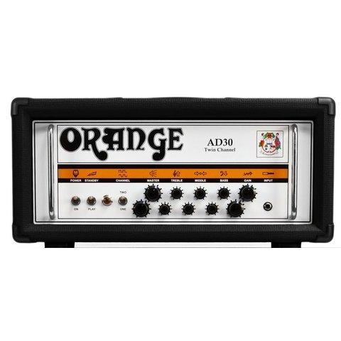 Orange AD Series AD30HTC Black 30 watt twin channel head Class A all tube EL84