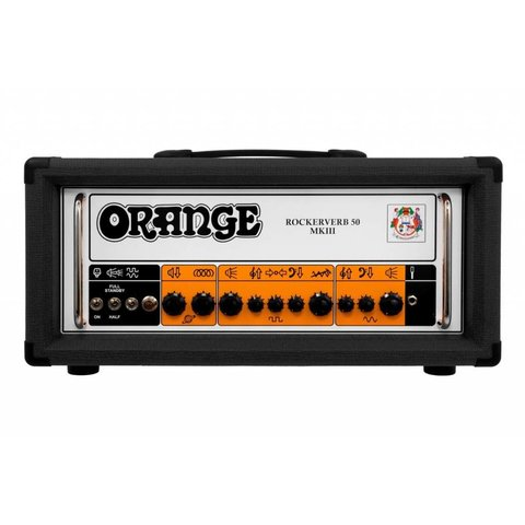 Orange RK50HTCMKIII Black Rockerverb MKIII 50/25 watt twin channel head, attenuator, tube FX loop, reverb, EL34