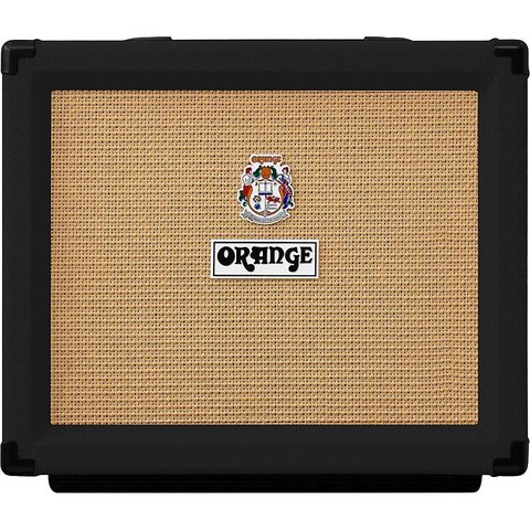 "Orange ROCKER-15-BLK 15/7/1/.05 watt combo, 1X10"" VOTW gold label spkr, natural/dirty channel, valve buffered FX loop"