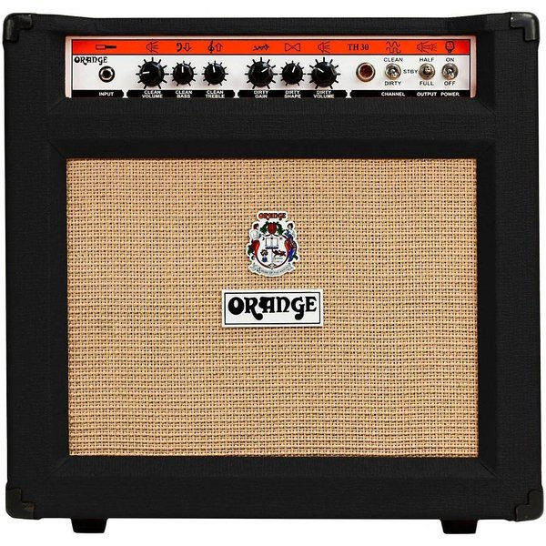 Orange Orange TH30C Black 30/15/7 watt Class A all Tube Combo VOTW speaker EL84 powered