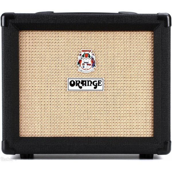 Orange Orange Crush CRUSH20 Black 20 Watt, 4 Stage Preamp, Clean/Dirty Channel Switching, HP Out, Aux in, 8'' Spkr