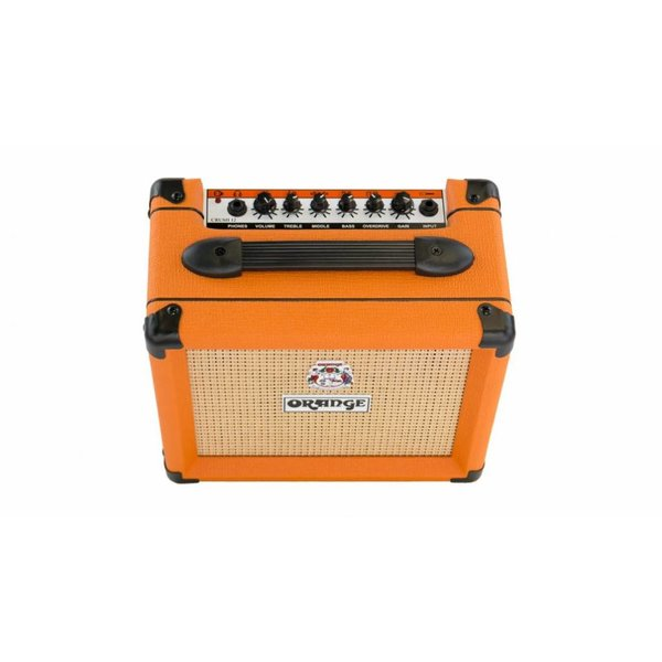Orange Orange CRUSH12 Watt 3 Stage Preamp EQ OD Cab-Sim Headphone Out VOTW 6'' Speaker