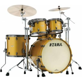 TAMA Tama Starclassic Maple 22''Bd 5Pc Shell Kit With Black Nickel Shell Hardware In Satin Aztec Gold Metallic Finish