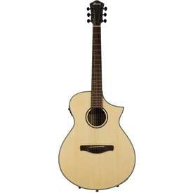 Ibanez Ibanez AEWC24MBLG AEW Acoustic Electric Guitar - Natural Low Gloss