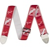 "Fender 2"" Monogrammed Strap, Candy Apple Red"