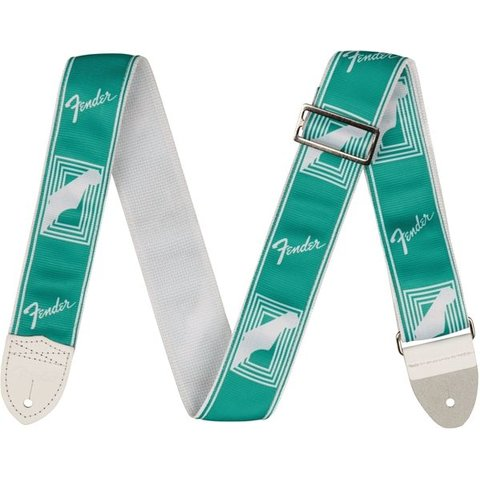 "Fender 2"" Monogrammed Strap, Sea Foam Green"