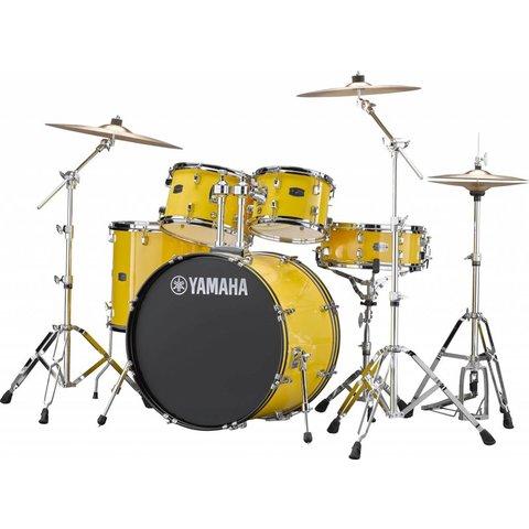 Yamaha RDP2F56WWUYL Mellow Yellow Rydeen 5-Pc Drum Set Hw-680W 457 Cym 22'' Bd