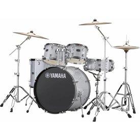Yamaha Yamaha RDP2F56WWUSLG Silver Glitter Rydeen 5-Pc Drum Set Hw-680W 457 Cym 22'' Bd