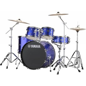 "Yamaha Yamaha RDP2F56WWUFB Blue Rydeen 5-Pc Drum Set Hw-680W 457 Rock Cym 22"" Bd Config"