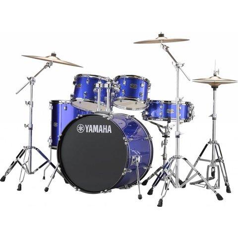 """Yamaha RDP2F56WWUFB Blue Rydeen 5-Pc Drum Set Hw-680W 457 Rock Cym 22"""" Bd Config"""