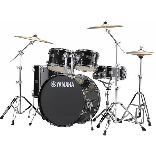 "Yamaha Yamaha RDP2F56WWUBLG Black Glitter Rydeen 5Pc Drum Set Hw-680W 457 Rock 22"" Bd"