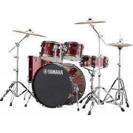 Yamaha Yamaha RDP2F56WWUBGG Burgundy Glttr, Rydeen 5-Pc Drum Set w Hw-680W, 457 Rock Cym 22'' Bd Config.