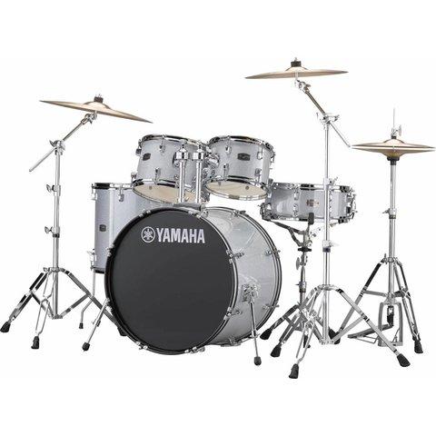 """Yamaha RDP2F56WSLG Silver Glitter Rydeen 5-Pc Drum Set Hw-680W 22"""" Bd Config"""