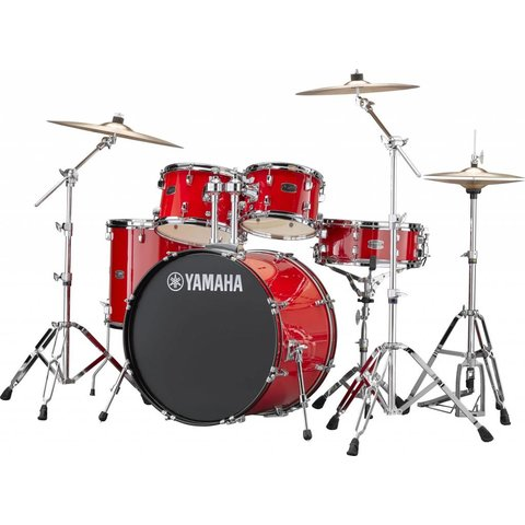 "Yamaha RDP2F56WRD Hot Red Rydeen: 5-Pc. Drum Set Hw-680W 22"" Bd Configuration"