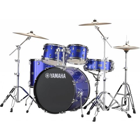 "Yamaha RDP2F56WFB Fine Blue Rydeen: 5-Pc. Drum Set Hw-680W 22"" Bd Configuration"