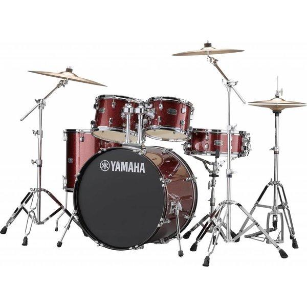 Yamaha Yamaha RDP2F56WBGG Burgundy Glitter Rydeen: 5-Pc. Drum Set Hw-680W 22'' Bd Config