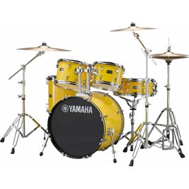 "Yamaha Yamaha RDP0F56WYL Mellow Yellow Rydeen 5-Pc. Drum Set Hw-680W 20"" Bd Config"