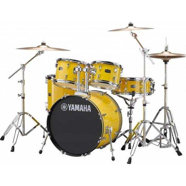 "Yamaha Yamaha RDP0F56WYL Mellow Yellow Rydeen 5-Pc. Drum Set Hw-680W 20"" Bd Config"