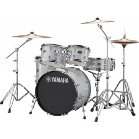 Yamaha Yamaha RDP0F56WWUSLG Silver Glitter Rydeen 5Pc Drum Set Hw-680W 457 Rock 20'' Bd