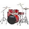 """Yamaha RDP0F56WWURD Hot Red Rydeen 5-Pc. Drum Set Hw-680W 457 Rock Cym 20"""" Bd"""