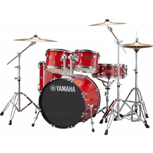"Yamaha Yamaha RDP0F56WWURD Hot Red Rydeen 5-Pc. Drum Set Hw-680W 457 Rock Cym 20"" Bd"