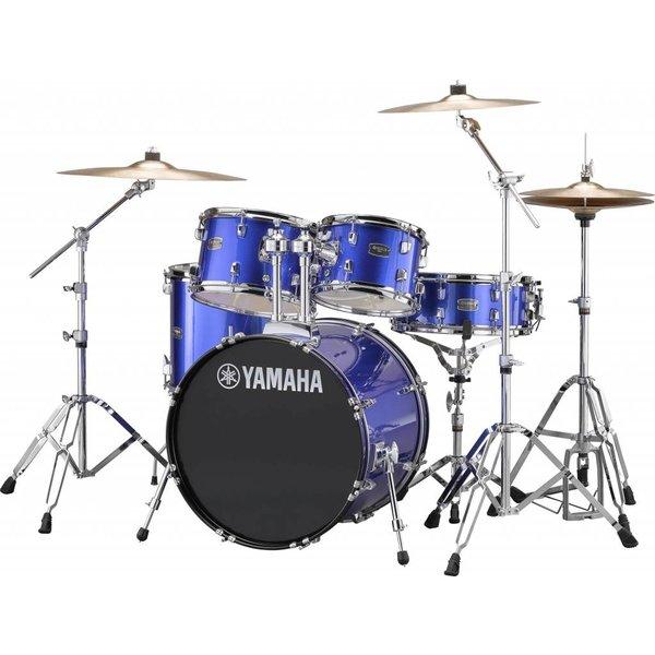 """Yamaha Yamaha RDP0F56WWUFB Fine Blue Rydeen 5-Pc Drum Set Hw-680W 475 Rock Cym 20"""" Bd"""