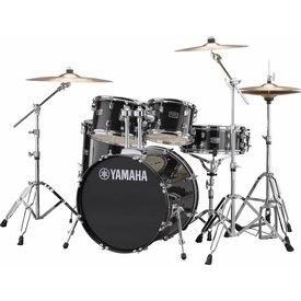 Yamaha Yamaha RDP0F56WWUBLG Black Glitter Rydeen 5-Pc Drum Set Hw-680W 475 Cym 20'' Bd