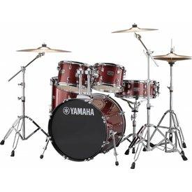 Yamaha Yamaha RDP0F56WWUBGG Burgundy Glitter Rydeen 5Pc Drum Set Hw-680W 475 Cym 20'' Bd