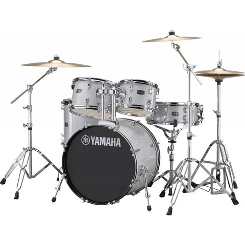 Yamaha RDP0F56WSLG Silver Glitter Rydeen 5-Pc Drum Set Hw-680W 20'' Bd Config