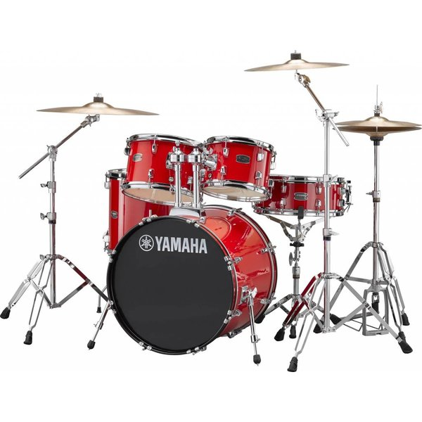 "Yamaha Yamaha RDP0F56WRD Hot Red Rydeen 5-Pc Drum Set w/ Hw-680W 20"" Bd Configuration"