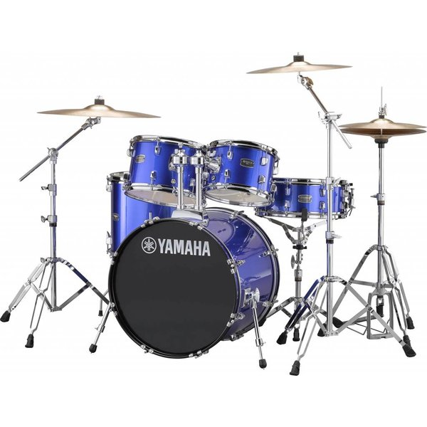 "Yamaha Yamaha RDP0F56WFB Fine Blue Rydeen 5-Pc. Drum Set Hw-680W 20"" Bd Configuration"