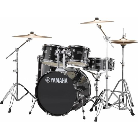 "Yamaha RDP0F56WBLG Black Glitter Rydeen 5-Pc. Drum Set w/ Hw-680W 20"" Bd Config"