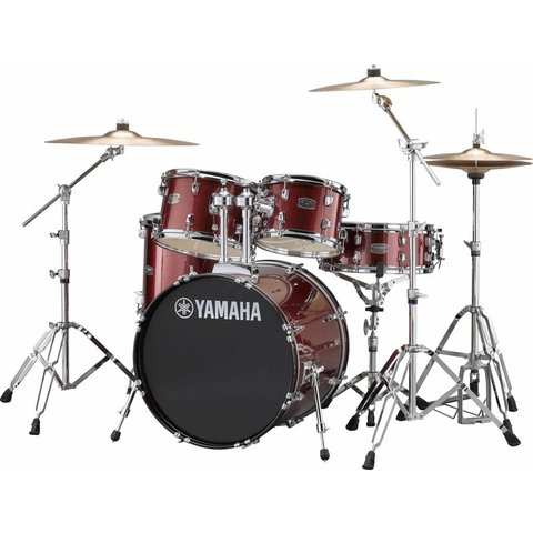 "Yamaha RDP0F56WBGG Burgundy Glitter Rydeen 5-Pc Drum Set Hw-680W 20"" Bd Config"