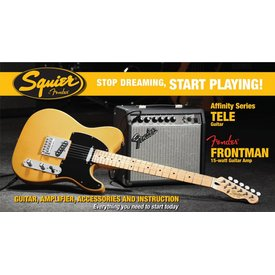 Squier Affinity Series Telecaster w/ Fender Frontman 15G Amp, Butterscotch Blonde