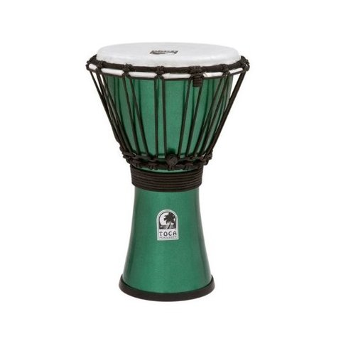 "Toca TFCDJ-7MG Freestyle Colorsound 7"" Djembe Metallic Green"