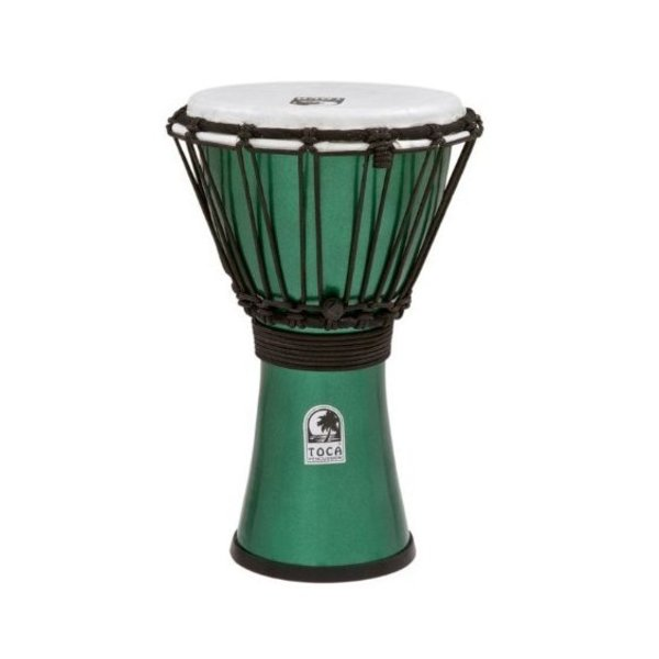 "Toca Toca TFCDJ-7MG Freestyle Colorsound 7"" Djembe Metallic Green"