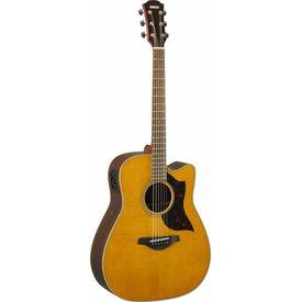Yamaha Yamaha A1R VN Folk Cutaway Acoustic Electic Guitar - Rosewood - Vintage Natural