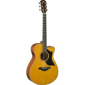 Yamaha Yamaha AC5M VN Small Cutaway Acoustic Electric Guitar Mahogany Vintage Natural