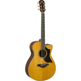 Yamaha Yamaha AC5R VN Small Body Cutaway Acoustic Electric Guitar Vintage Natural