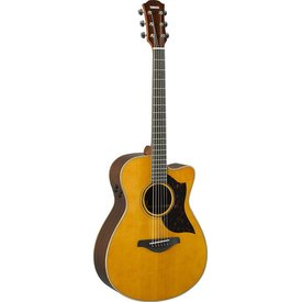 Yamaha Yamaha AC3R VN Small Body Cutaway Acoustic Electric Guitar Vintage Natural