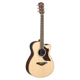 Yamaha Yamaha AC1R VN Small Body Cutaway Acoustic Electric Guitar Vintage Natural