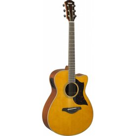 Yamaha Yamaha AC1M VN Small Cutaway Acoustic Electric Guitar Mahogany Vintage Natural
