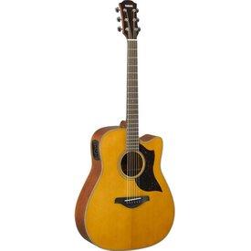 Yamaha Yamaha A1M VN Folk Cutaway Acoustic Electic Guitar - Mahogany - Vintage Natural