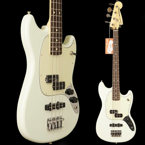 Mustang Bass PJ, Rosewood Fingerboard, Olympic White