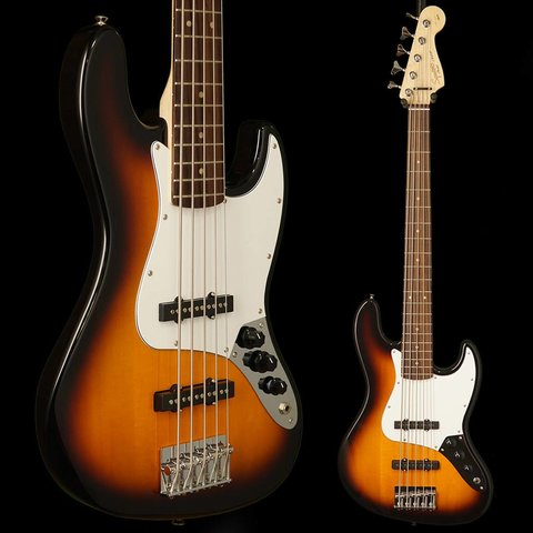 Affinity Jazz Bass V (5 String), Rosewood Fingerboard, Brown Sunburst