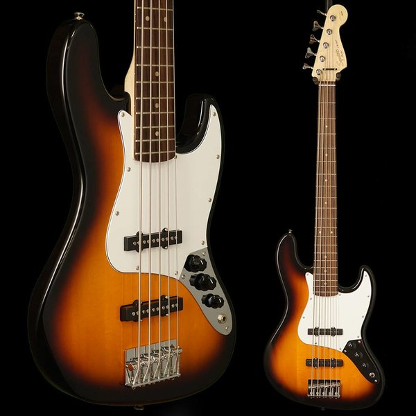 Squier Affinity Jazz Bass V (5 String), Rosewood Fingerboard, Brown Sunburst